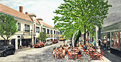 painting of Church Street in Montclair by artist Donald Felber