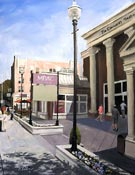 painting of the Morristown NJ Community Theater by artist Donald Felber