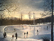 painting of Edgemont Park in Montclair by Donald Felber