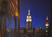 painting of Empire State Building by Donald Felber
