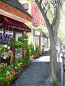painting of Upper Montclair by artist Donald Felber