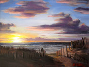 painting of Normandy Beach by artist Donald Felber