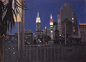 painting of NYC by Montclair artist Donald Felber