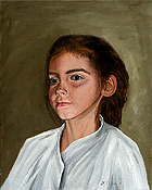 portrait of a young girl painted by artist Donald Felber