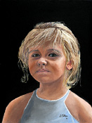 Oil portrait painting of a young girl by artist Donald Felber