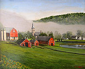 barn painting by Montclair artist Donald Felber