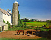 painting of Colts Neck NJ farm scene by Donald Felber