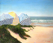 beach painting by Montclair artist Donald Felber